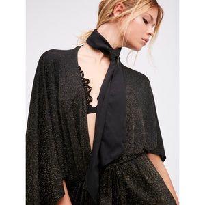Free People Sparkle & Shine Kimono Cape One Size